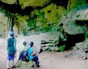resting at jebak puyuh caves