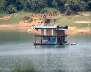 boat-house on the lake at tasik kenyir, Malaysia
