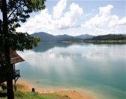 view of kenyir lake from the chalet