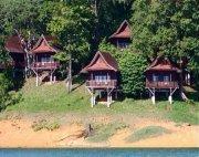 resort chalets at lake kenyir, malaysia