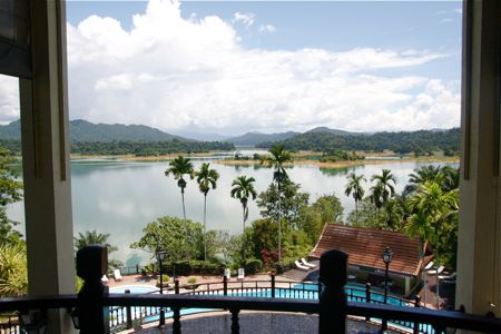 beautiful view of kenyir lake, malaysia