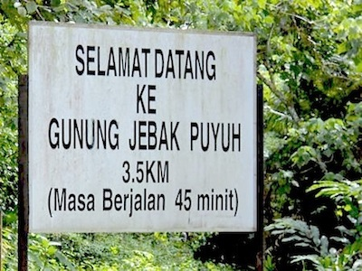 signboard to jebak puyuh