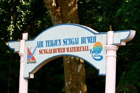 sungai buweh waterfalls entrance