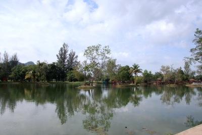 tasik melati in perlis, malaysia
