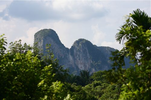 limestone outcrop ideal for rock-climbing