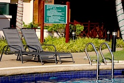 poolside at ilham resort, port dickson