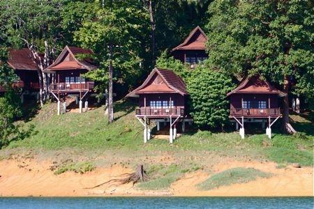 tasik kenyir resort chalets in terengganu, malaysia