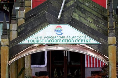 tourist information center at tasik kenyir, malaysia